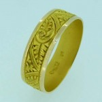15ct Gold Ring Superbly Engraved. Click for more information...