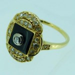 Art Deco Onxy & Diamond Ring. Click for more information...