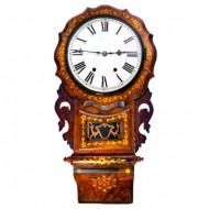 Newhaven Striking Wall Clock Walnut Inlaid. Click for more information...
