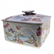 Japanese hand Decorated Porcelain Box. Click for more information...