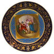 Royal Vienna Plate Man with 2 Maidens. Click for more information...