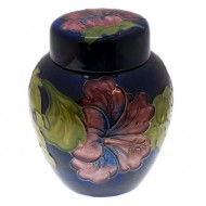 Walter Moorcroft Ginger Jar Hybiscus Pattern. Click for more information...
