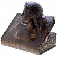 Pair of Art Deco Bronze Bookends. Inscribed Beatrice and Dante.. Click for more information...