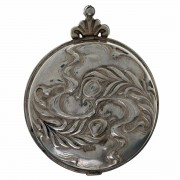 Sterling Silver. Art Nouveau. Pill Box. Click for more information...