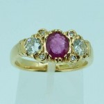 Estate Ruby & Diamond Dress Ring. Click for more information...
