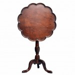 Georgian Mahogany Tilt Top Wine Table. Click for more information...