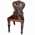 Victorian Mahogany Hall Chair. Click for more information...