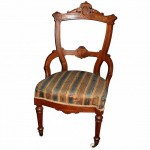 Unusual Walnut Drawing Room Chair. Click for more information...