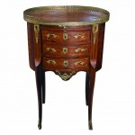 A French Parquetry Night Stand. Click for more information...