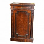 Figured Walnut Victorian Peer Cabinet. Click for more information...