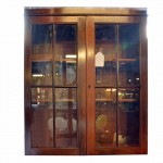Victorian Mahogany Free Hanging Display Cabinet.. Click for more information...