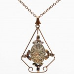 9ct Gold Art Nouveau Pendant. Click for more information...