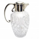 Claret Jug. Sterling Silver and Hand Cut Crystal.. Click for more information...