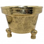 Chinese Heavy Brass Jardiniere. Click for more information...