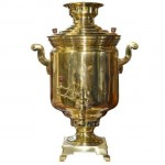 Russian Brass Samovar. Click for more information...