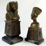 Pair of Egyptian Revival Bronzes of Tutankhamun and Nefertiti. Click for more information...
