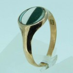 9ct Rose Gold Military Colour Patch Enameled Ring. Click for more information...