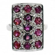 15ct White Gold 13 Rubies and 6 Diamond Ring. Click for more information...